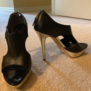 CHRISTIAN DIOR platform stiletto open toe heels